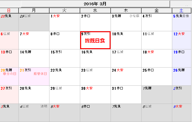 2016年3月9日の日食